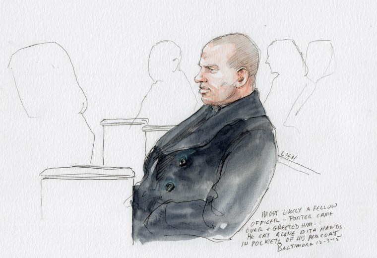 Image:  Porter Trial Freddie Gray