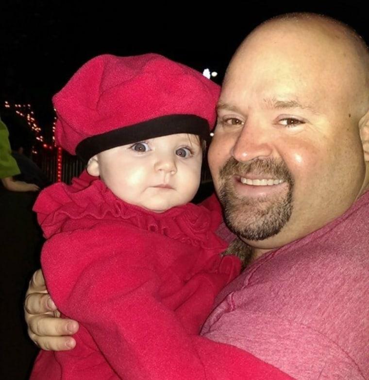 Robert Admas with his daughter, Savannah.
