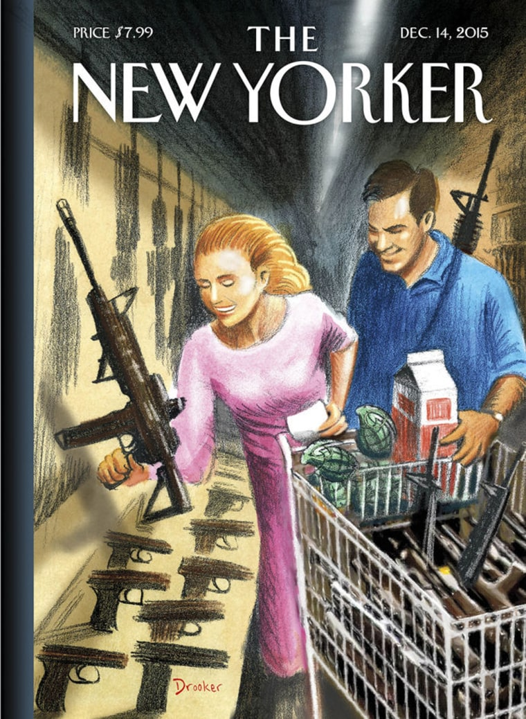 """Cover of the December 14 issue of The New Yorker, """"Shopping Days."""""""