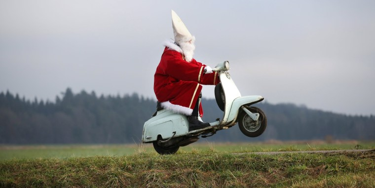 Image: Santa on a scooter