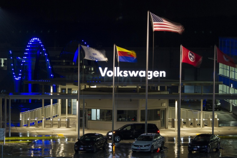 Image: A general view of the Volkswagen plant in Chattanooga in this file photo