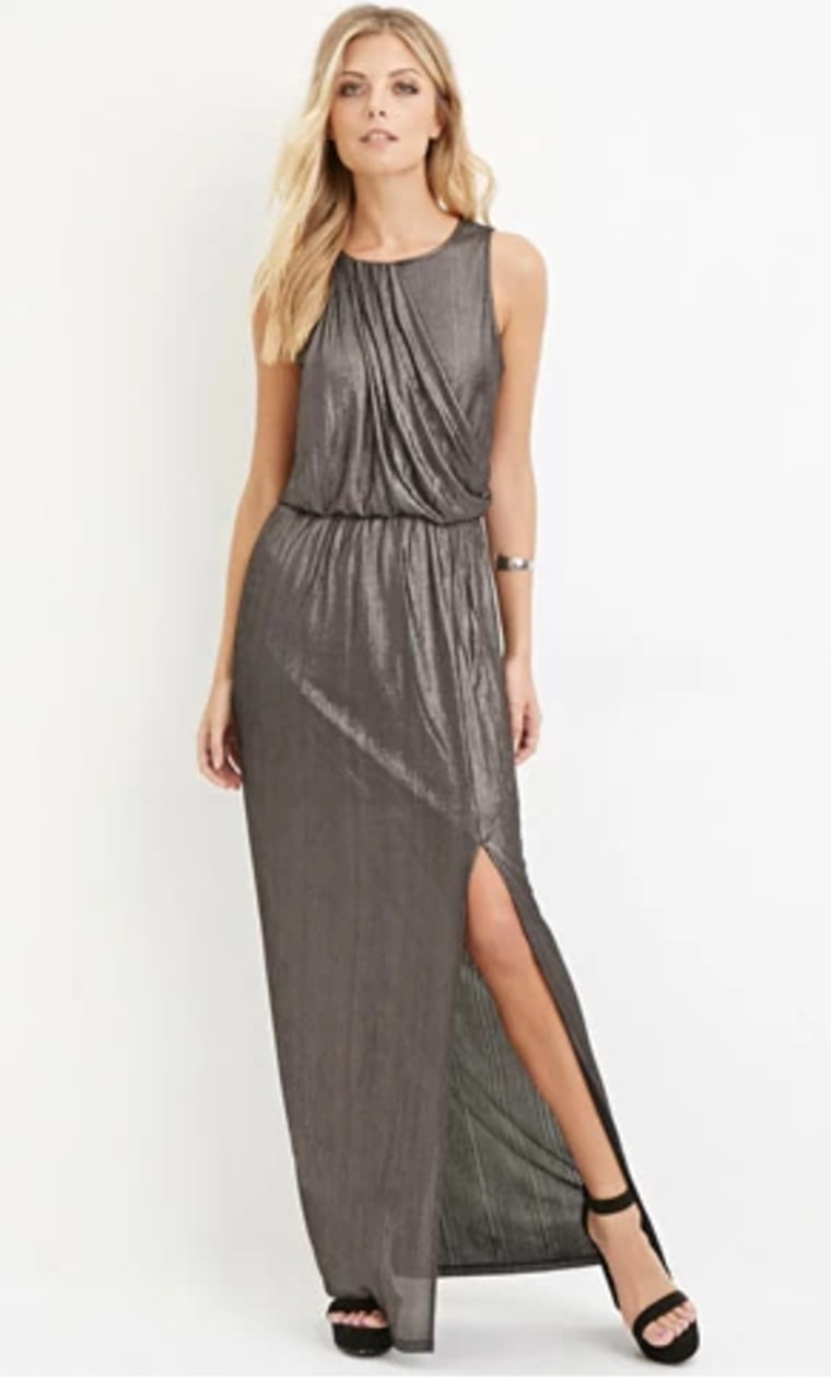 Holiday Party Outfit Ideas Wear A Metallic Dress Like