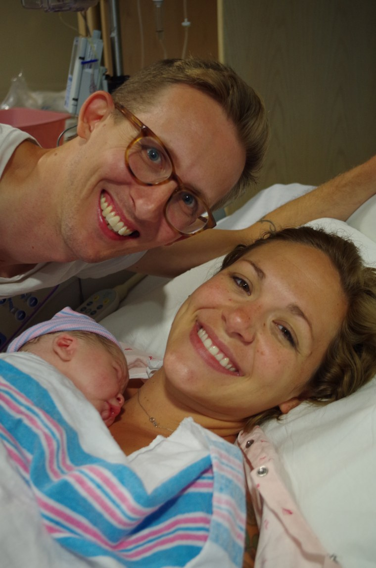 Chad and Andrea Chapman, with Charlie