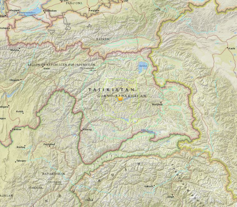 Image: A 7.2-magnitude earthquake struck the Central Asian nation of Tajikistan
