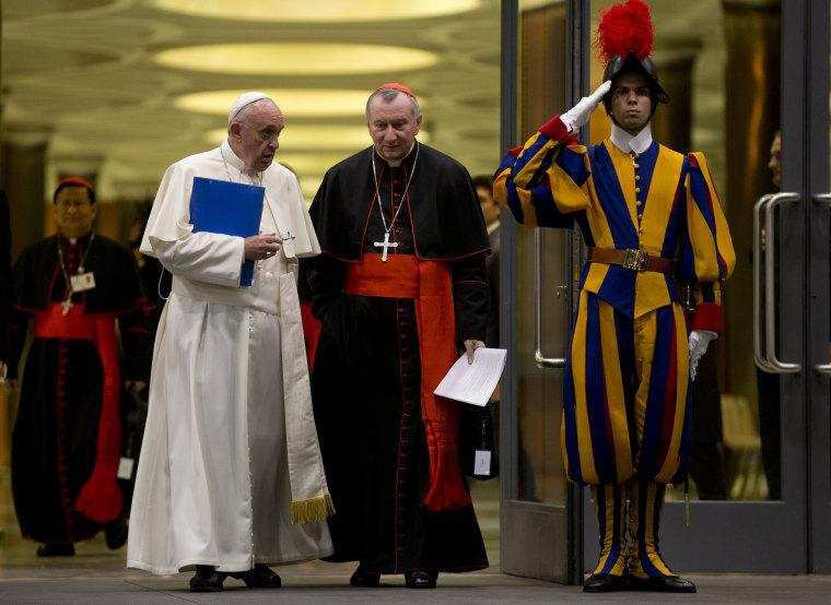 Image: Pope Francis and Cardinal Pietro Parolin