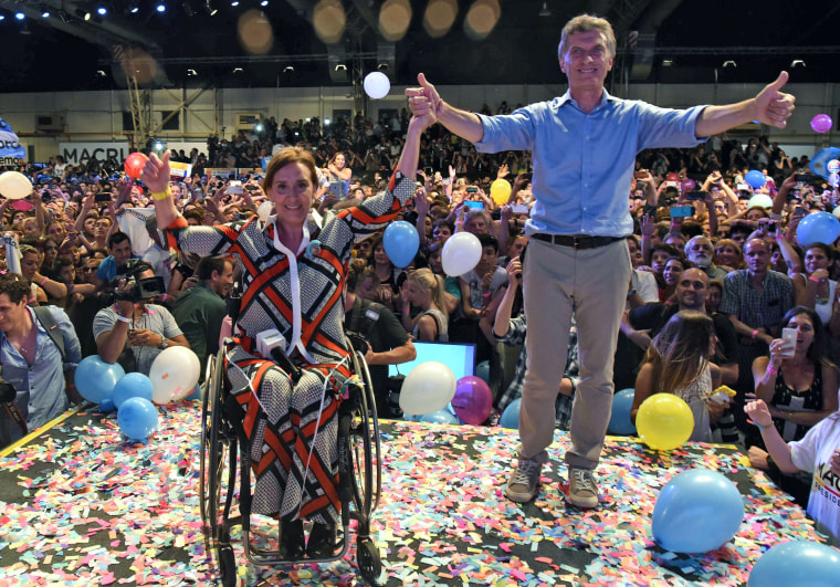 Image: ARGENTINA-ELECTION-RUNOFF-MACRI-MICHETTI