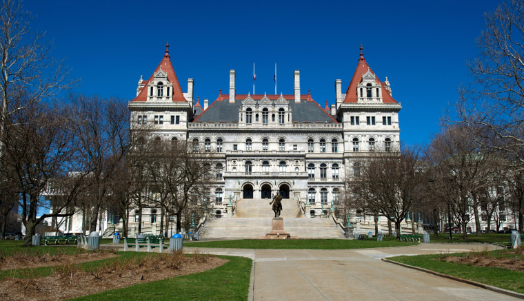The State Capitol Building in Albany, New York.