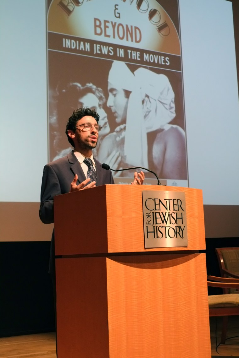 """American Sephardi Federation executive director Jason Guberman-Pfeffer speaks about the Center for Jewish History's new exhibit, """"Baghdadis & the Bene Israel in Bollywood and Beyond,"""" on display in New York City through April 1, 2016."""