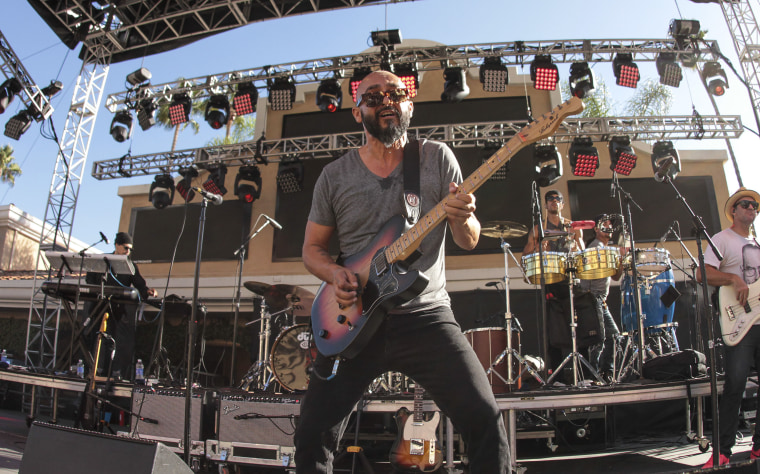 Guitarist Raul Pacheco of Ozomatli performs during the 2015 KAABOO Del Mar on September 18, 2015 in Del Mar, California.