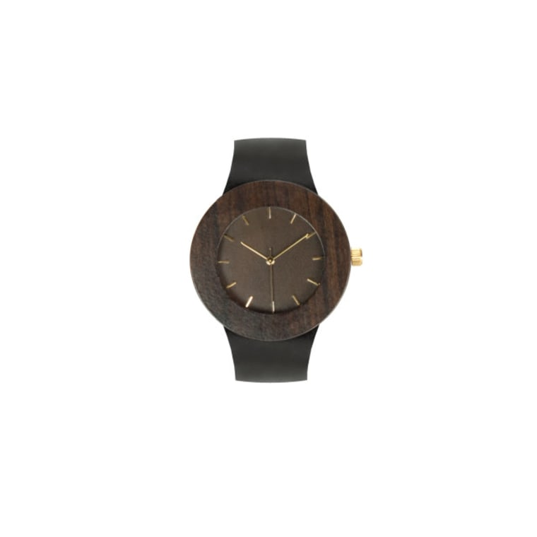 The Leather & Blackwood Wood Watch from Ecohabitude