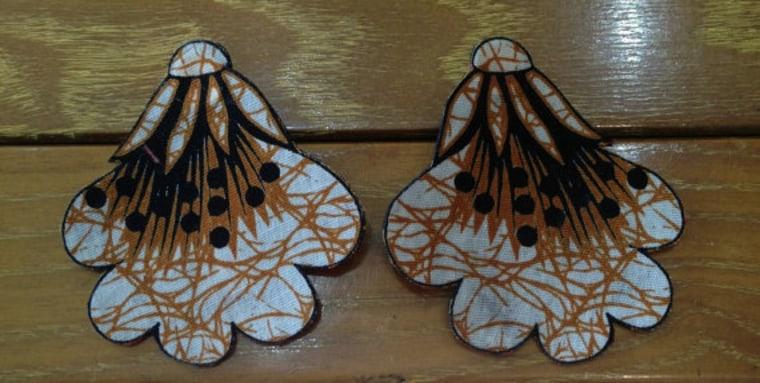 Batik post earrings from Native Sol