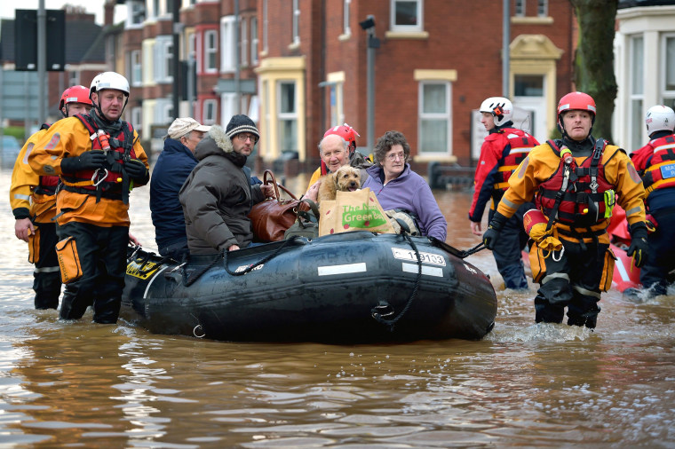 Image: Flooding Chaos As Thousands Evacuated Across Northern England