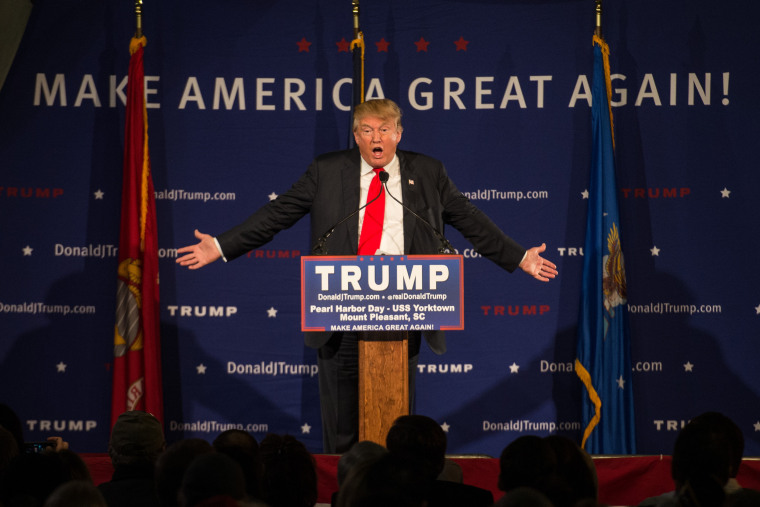 Image: Donald Trump Holds Pearl Harbor Day Rally At USS Yorktown