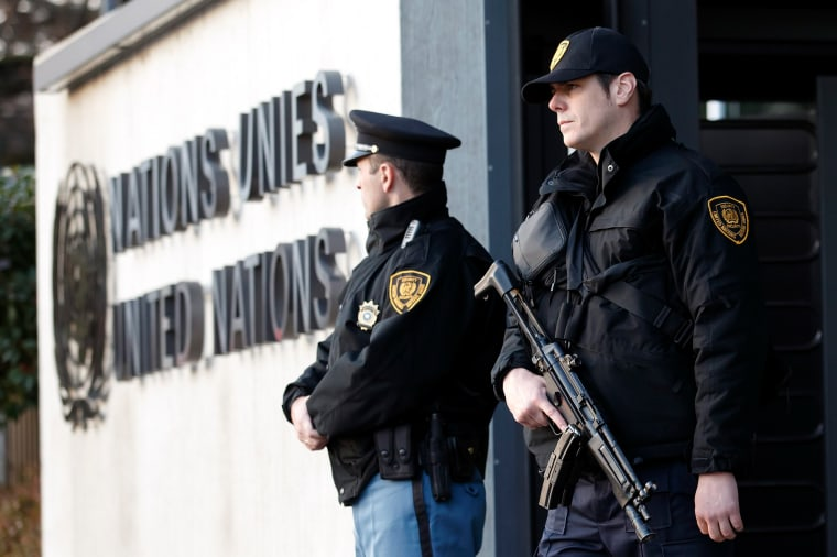 Image: Guards at the UN in Switzerland