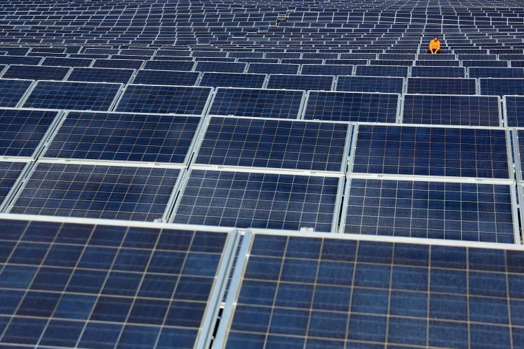 Image: TOPSHOT-SPAIN-THEME-LIGHT-ENERGY-SUN