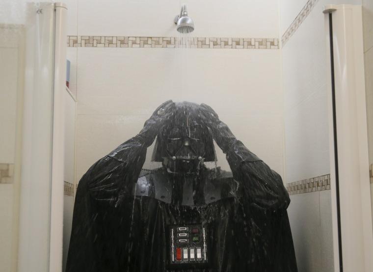 Image: The Wider Image: Ukraine: Being Darth Vader