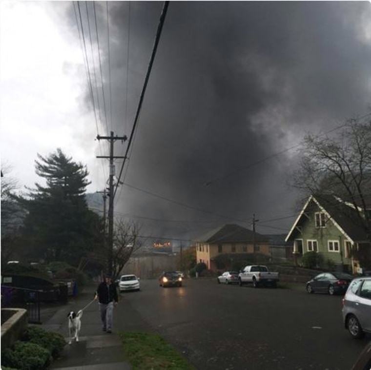 Image: TANK CARS EXPLOSION PORTLAND