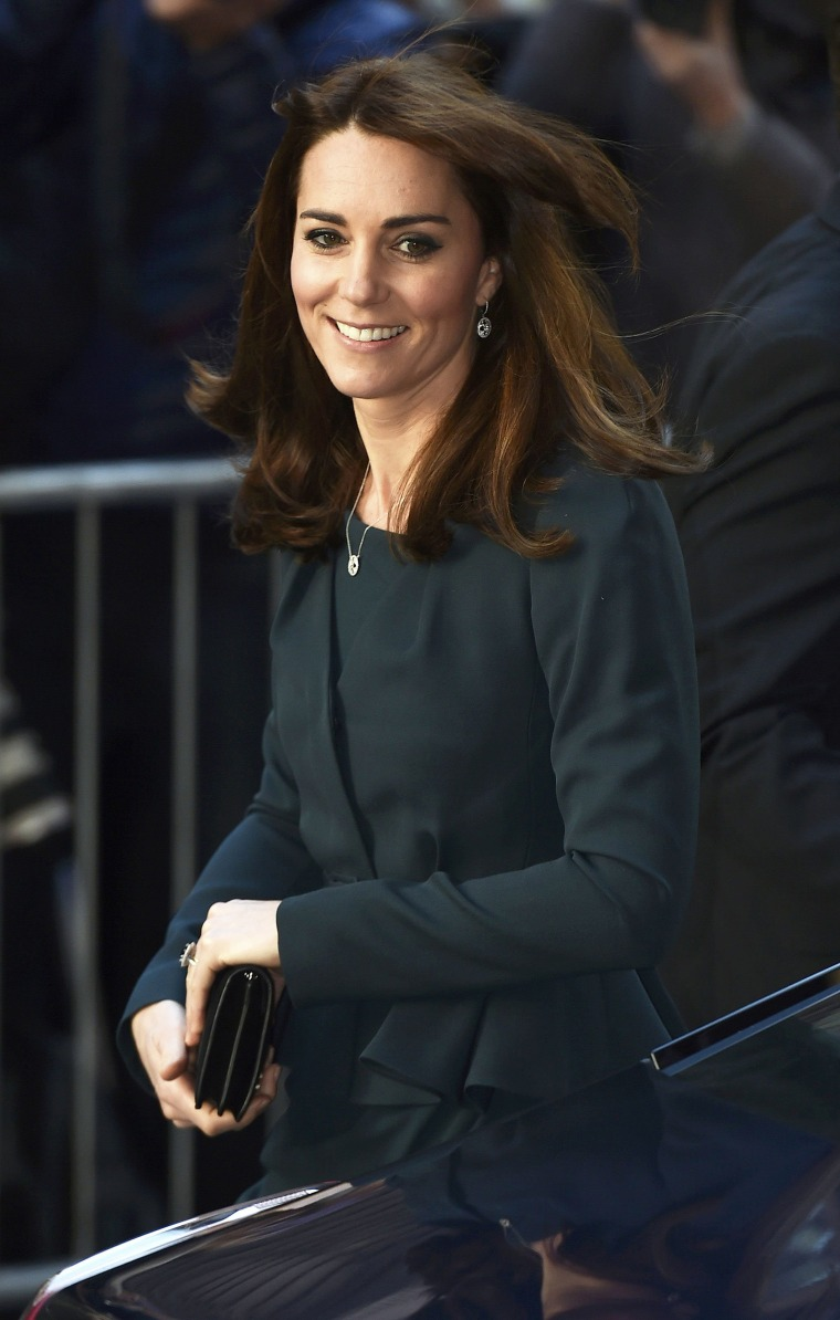 Image: Britain's Catherine, Duchess of Cambridge, arrives for a charity event at city company ICAP, in central London