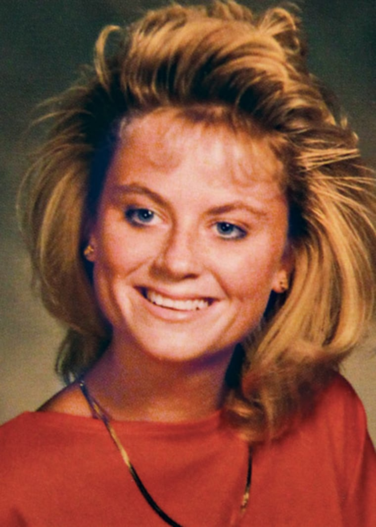 Here is Amy Poehler showing off 1980s haircut in high school yearbook.