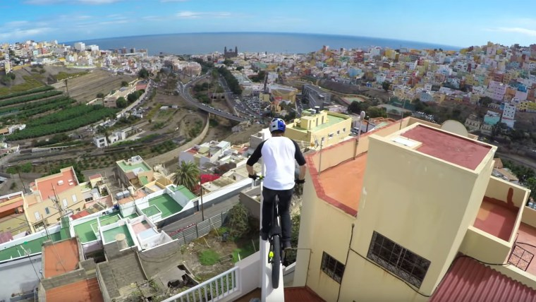 Danny MacAskill starts his journey, and gives everyone else vertigo.