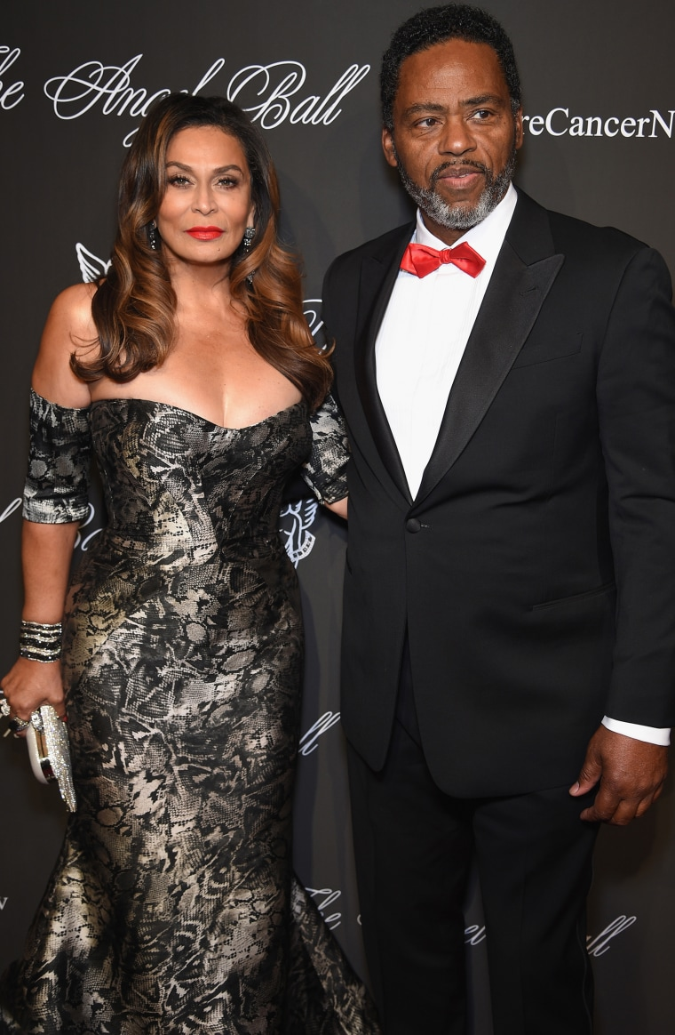 Tina Knowles (L) and Richard Lawson
