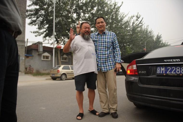 Image: Ai Weiwei and Pu Zhiqiang