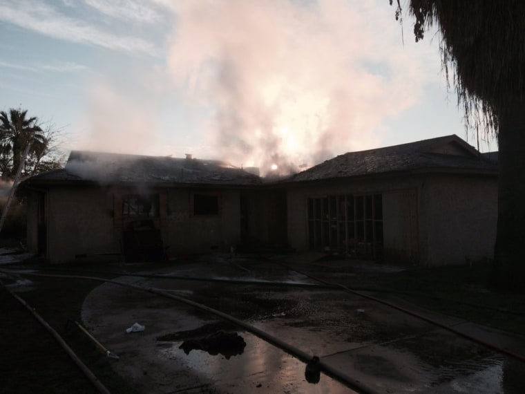 Image: An investigation has begun into the fatal fire.