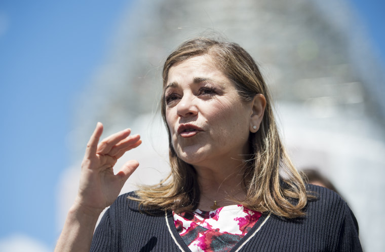 Rep. Loretta Sanchez, D-Calif., participates in the news conference on Food and Drug Administration menu labeling regulations on Tuesday, April 28, 2015.