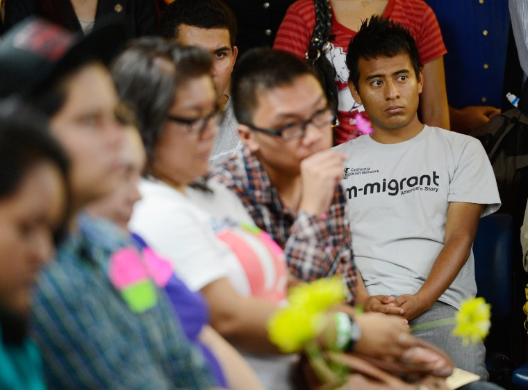 Image: Young Immigrants Apply For Obama Administration's Temporary Deportation Reprieve