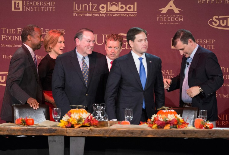 Image: GOP Candidates Attend Presidential Family Forum In Des Moines