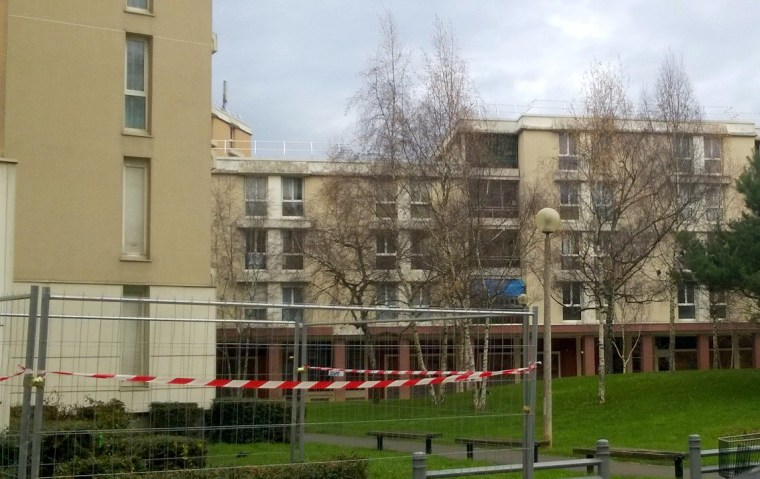 Image: A housing block in Villiers-sur-Marne, east Paris, where authorities arrested two individuals over the January 2015 Paris terrorist attacks.