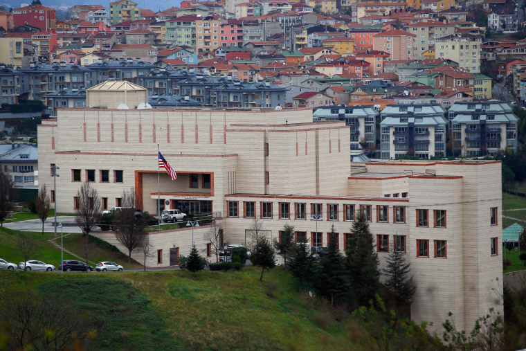 Image: A general view of the U. S. Consulate in Istanbul, Turkey.
