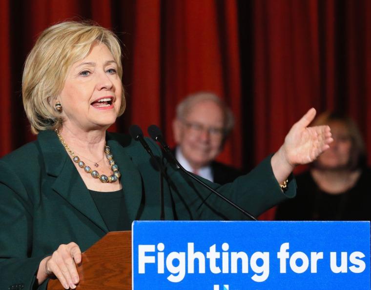 Image: Hillary Clinton, Susie Buffett, Warren Buffett