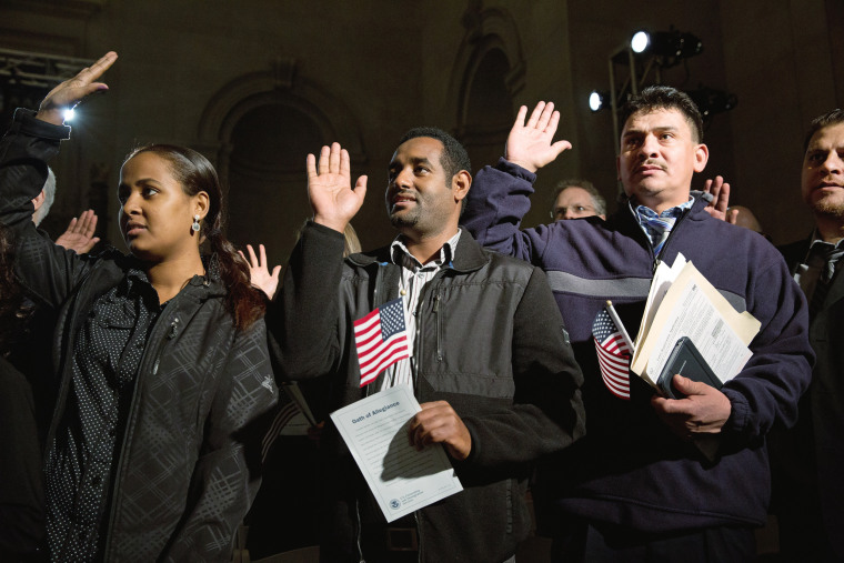 Image: Obama Speaks At Naturalization Ceremony