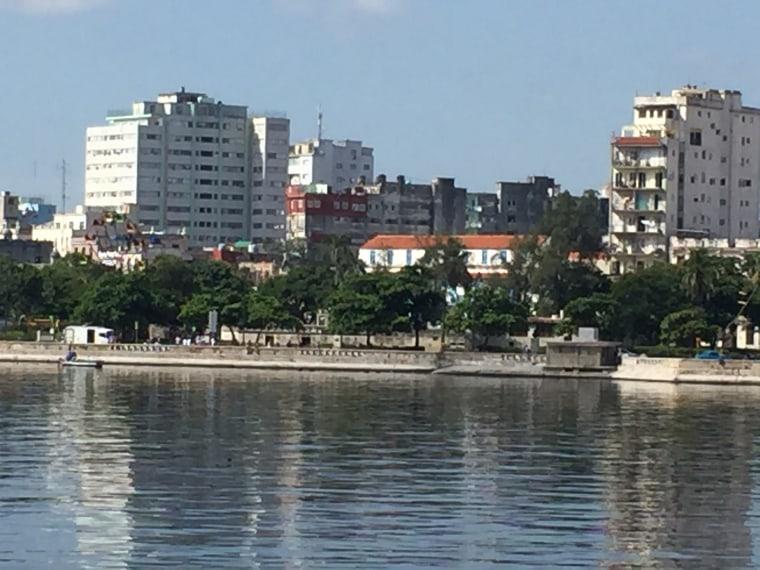 A view of the skyline in Havana, Cuba, August 2015.