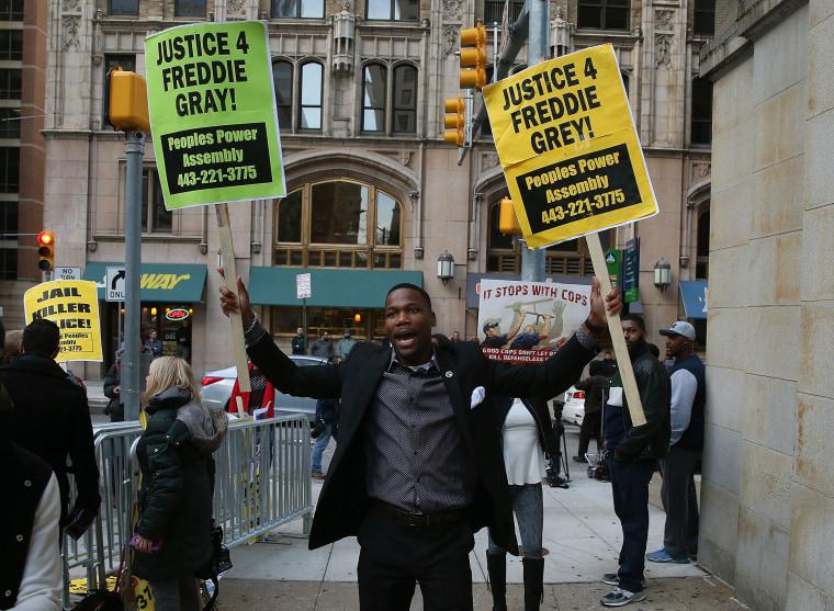 Image: Judge Declares Mistrial In First Freddie Gray Trial