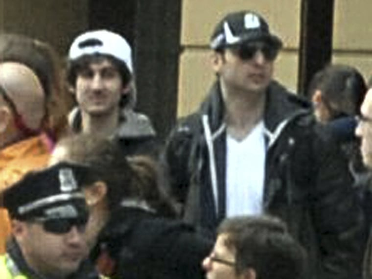 Image: Handout photo of suspects in Boston Marathon shooting