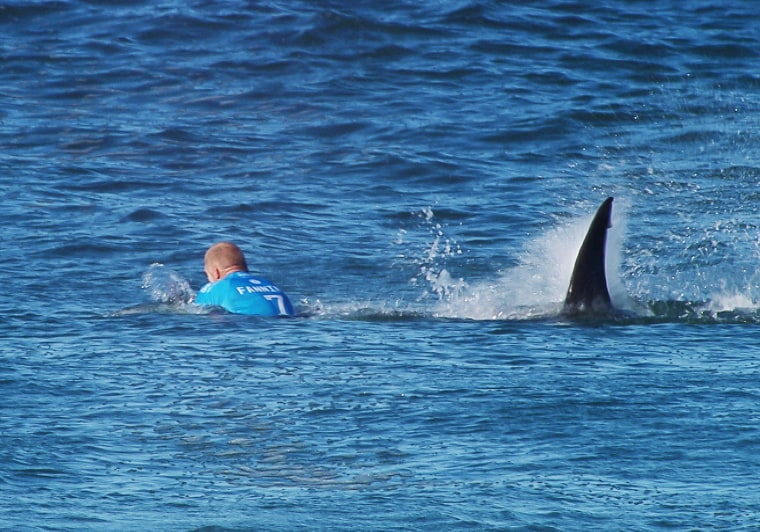 Image: Australian surfer Mick Fanning is attacked by a shark