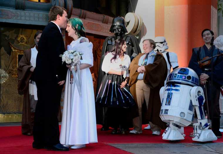 Image: Star Wars: The Force Awakens film premiere wedding