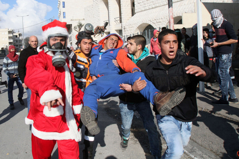Image: PALESTINIAN-ISRAEL-CONFLICT-CHRISTMAS