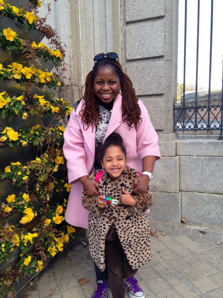 Veronica Chambers and her daughter Flora, age 8. Veronica is a journalist and author, she blogs at GiftyMcGifty where she recommends unique gifts.