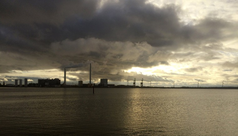 Image: A general view shows DONG Energy's power station in Kalundborg