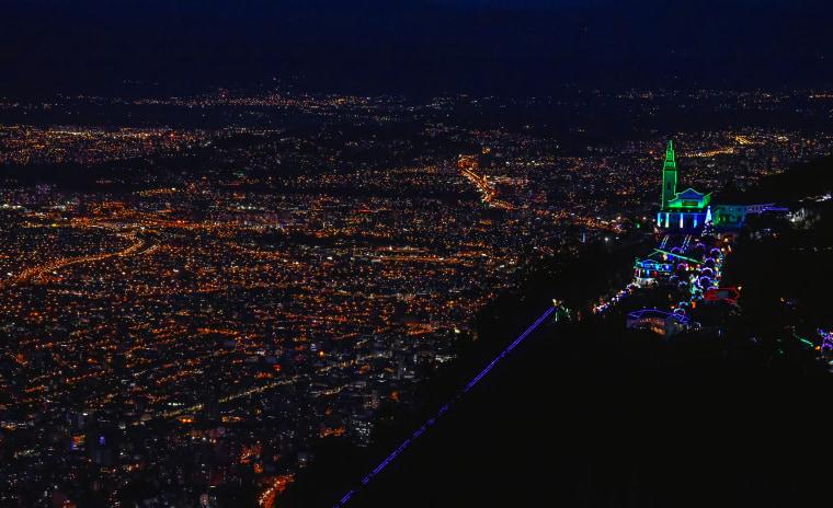 COLOMBIA-CHRISTMAS-LIGHTS