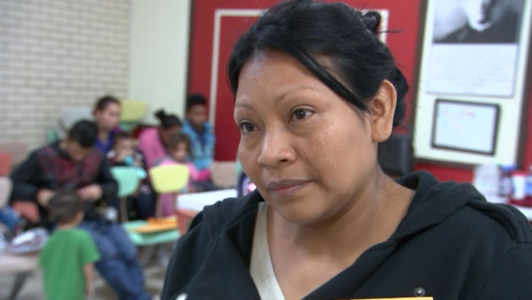 Vilma de Montano crossed into the U.S. to be with her husband and to escape violence back home in El Salvador.