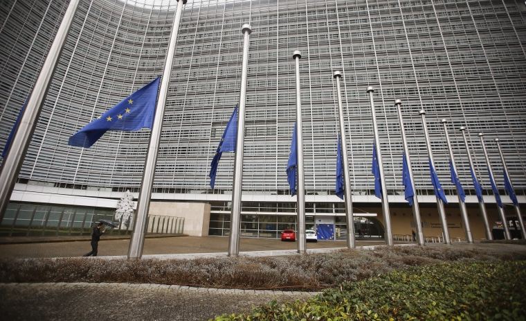 Image: It's been a tough year at E.U. headquarters in Brussels.