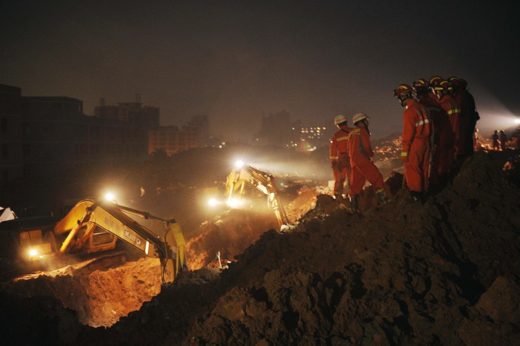 Image: CHINA-ACCIDENT-LANDSLIDE-SHENZHEN