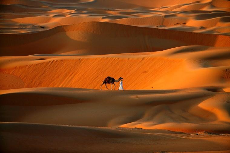 Image: TOPSHOT-UAE-DESERT