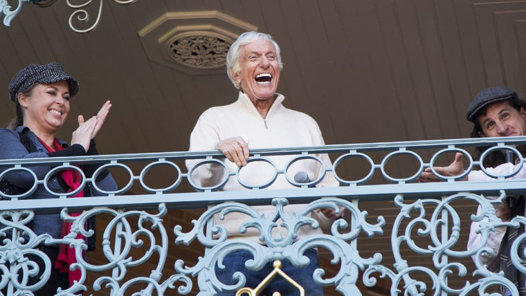Image: Dick Van Dyke Celebrates His 90th Birthday At Disneyland