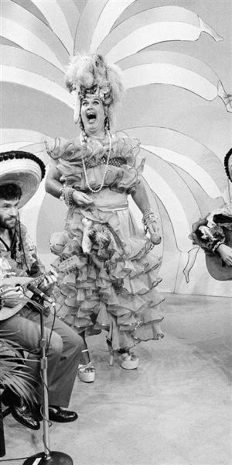 Willard Scott appears as Carmen Miranda