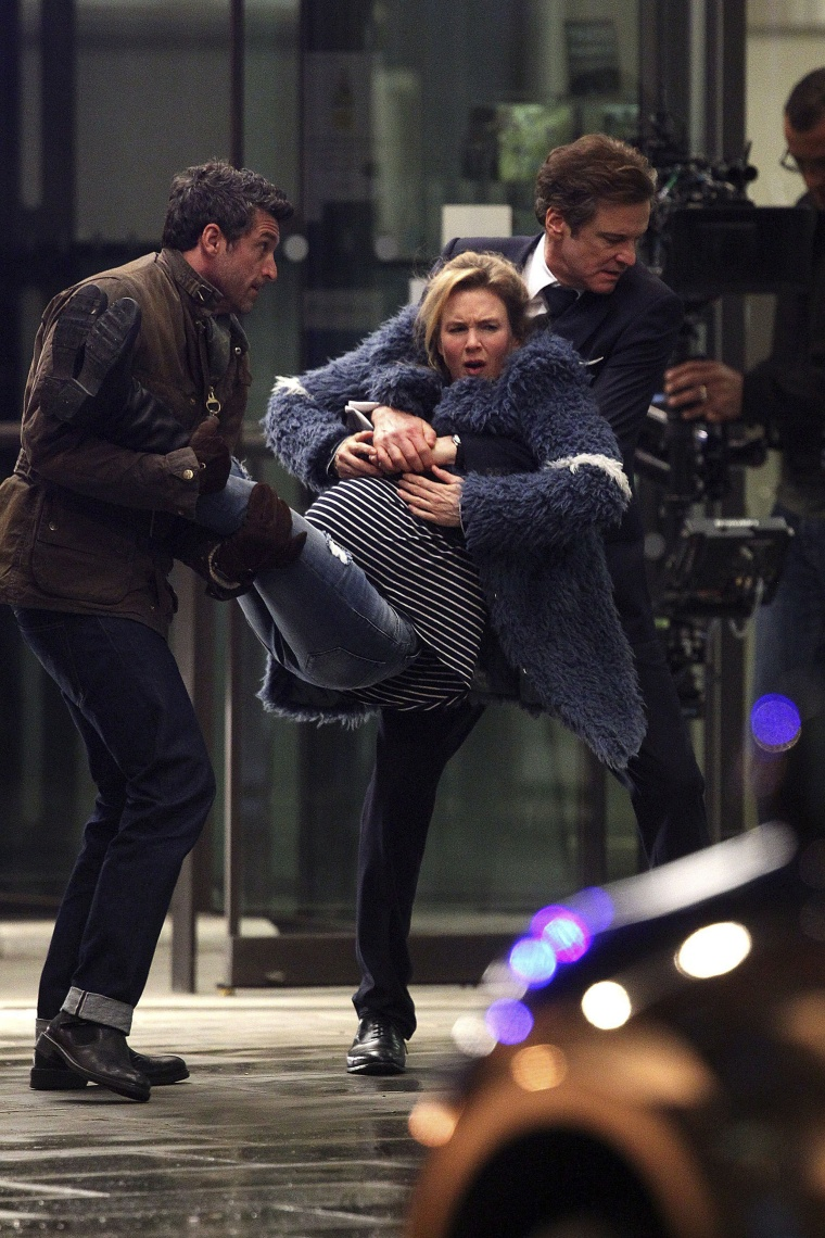 On The Set Of 'Bridget Jones's Baby'